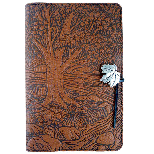 Embossed Leather Journal: Creekside Maple