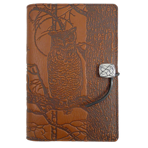 Embossed Leather Journal: Night Owls