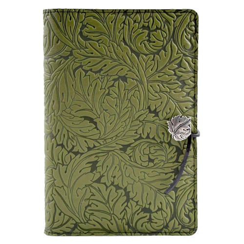 Embossed Leather Journal: Acanthus Leaf