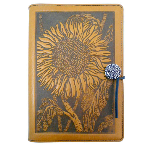 Embossed Leather Journal: Sunflower