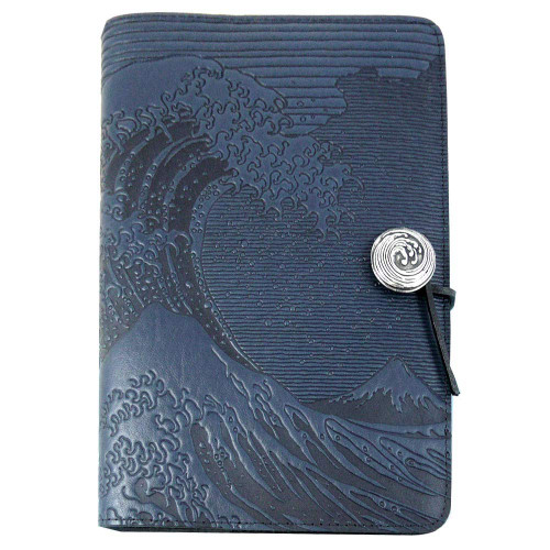 Embossed Leather Journal: Hokusai Wave
