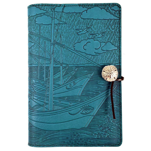 Embossed Leather Journal: Van Gogh Boats