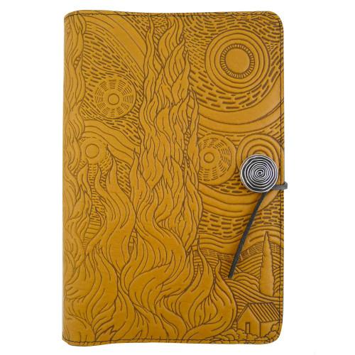Embossed Leather Journal: Van Gogh Sky