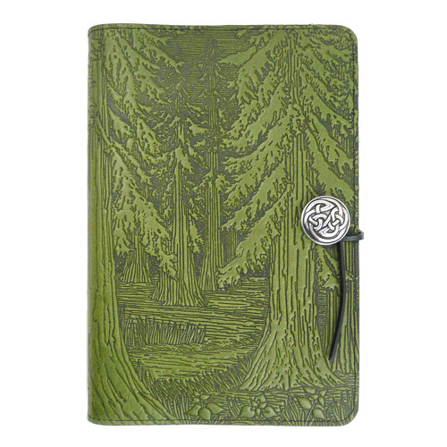 Embossed Leather Journal: Evergreen Forest