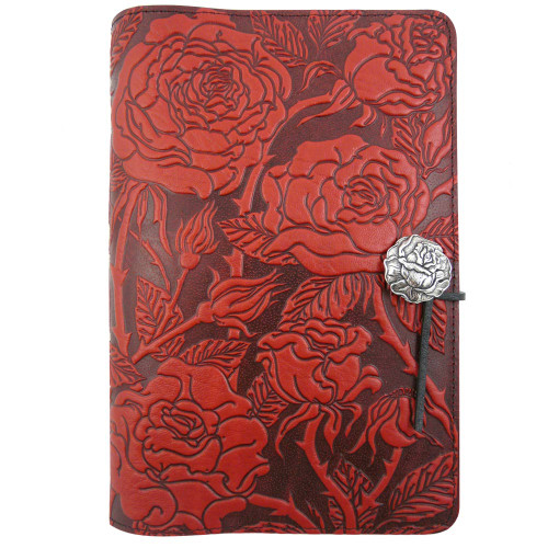 Embossed Leather Journal: Wild Rose