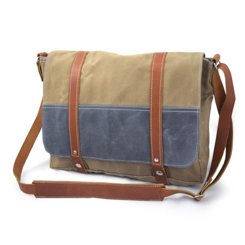 Artisan-Crafted Waxed Canvas Messenger Bag