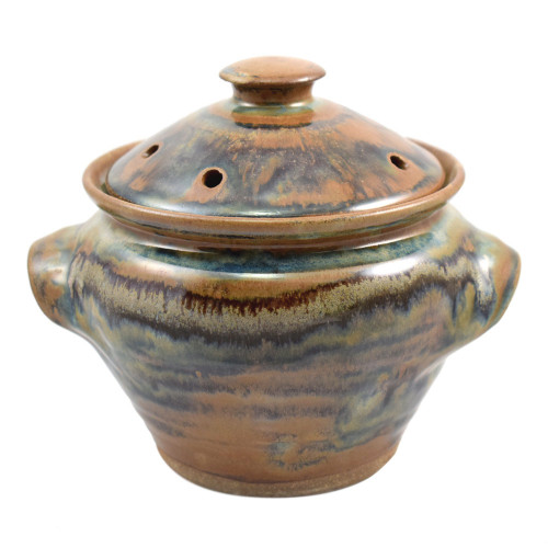 Tuscan Farmhouse Collection: Stoneware Pottery Microwave Vegetable Steamer
