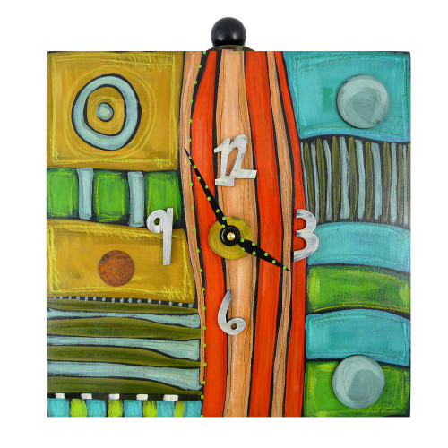 Eclectic Hand Painted Box Clock