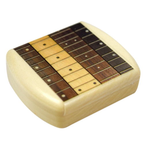 Wood Guitar Pick Caddy Box