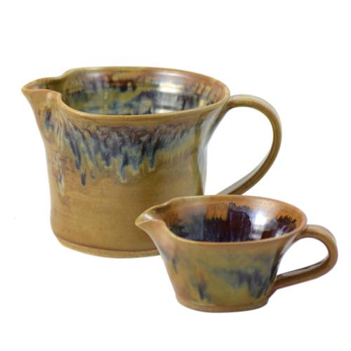 Tuscan Farmhouse Stoneware Mixing Bowl with Handle