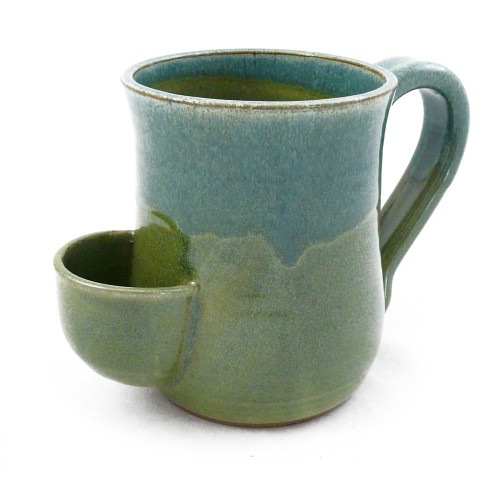 Stoneware Tea Mug with Tea Bag Pocket