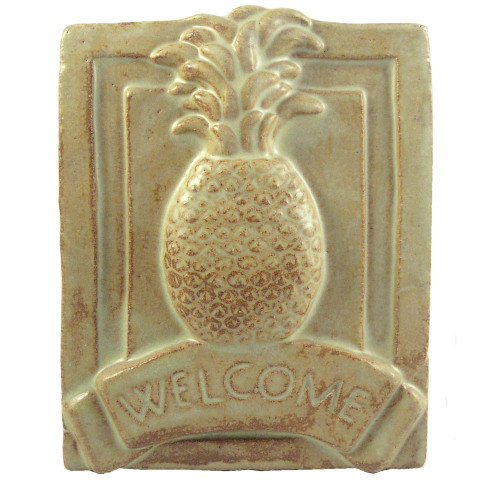 Craftsman-Style Ceramic Welcome Plaque : Pineapple