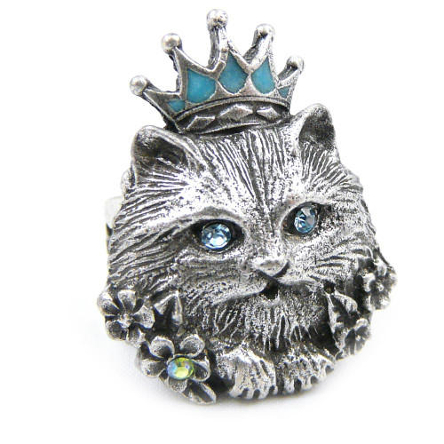 Glamour Puss Adjustable Ring