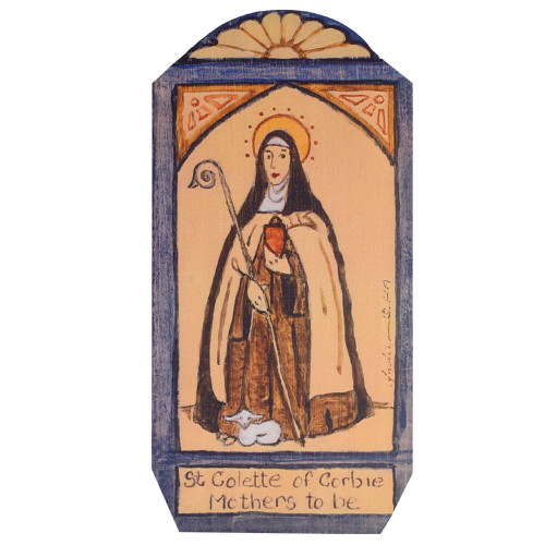 Patron Saint Retablo Plaque - St Colette of Corbie