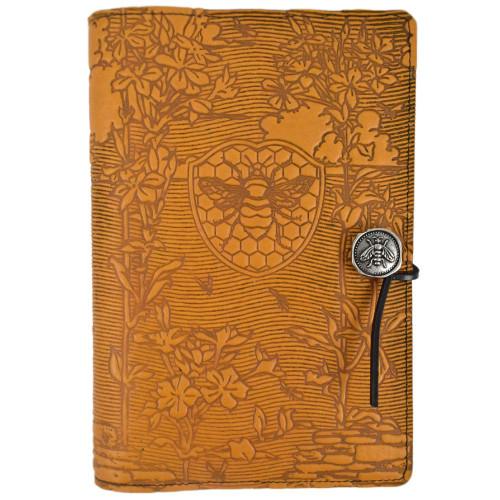 Embossed Leather Journal: Honeybee Garden