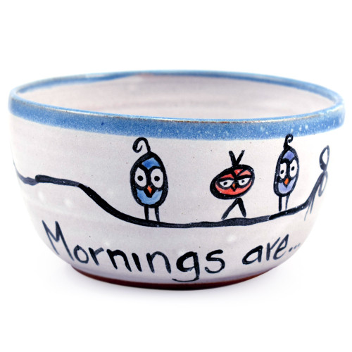 Mornings are for the Birds Stoneware Bowl