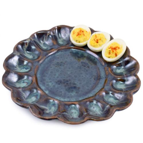 Deviled Egg Platter in Midnight Blue