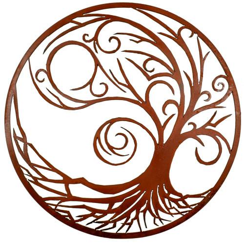 Windswept Spirit Tree Metal Outdoor Wall Art