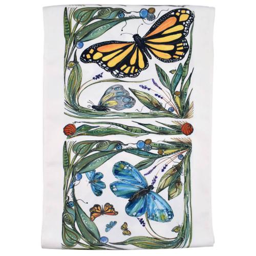 Monarch Butterfly Art Table Runner