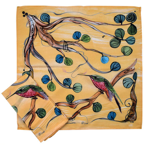Hummingbird Art Microfiber Table Napkins (Set of 2)
