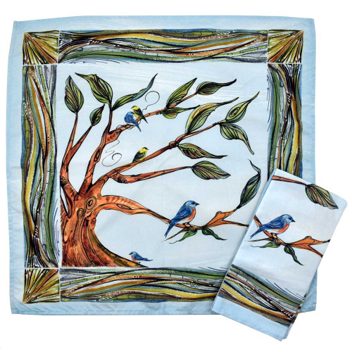 Birds and Branches Microfiber Table Napkins (Set of 2)