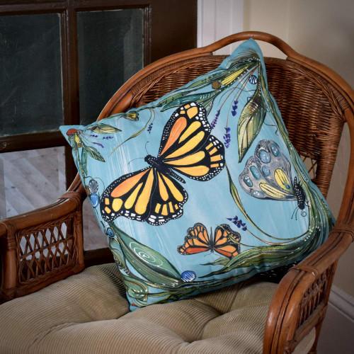Monarch Butterfly Indoor/Outdoor Pillow