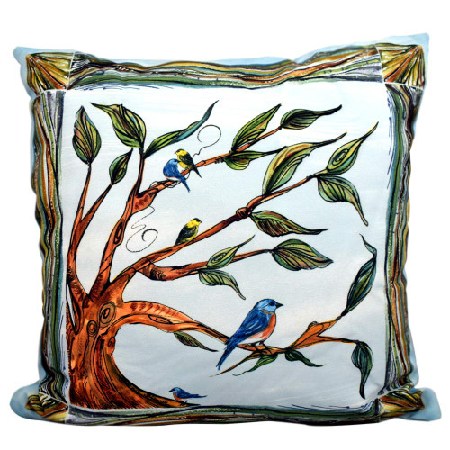 Birds and Branches Indoor/Outdoor Pillow