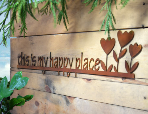 This is My Happy Place Rusty Garden Sign