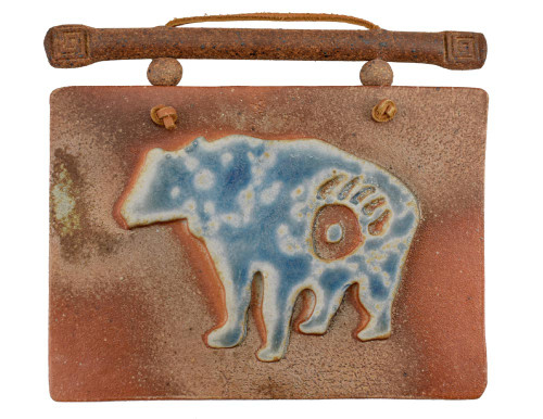 Southwestern Salt-Flash Art Tile: Bear Icon