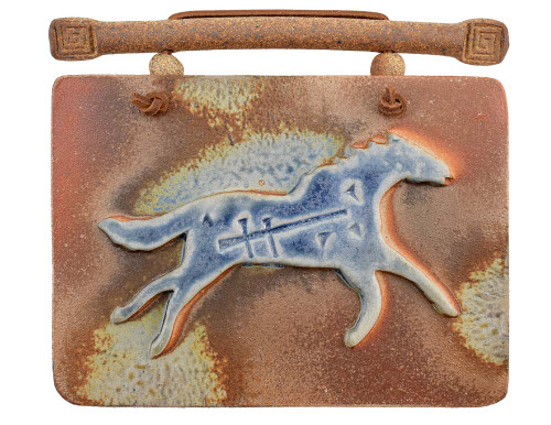 Southwestern Salt-Flash Art Tile: Running Horse