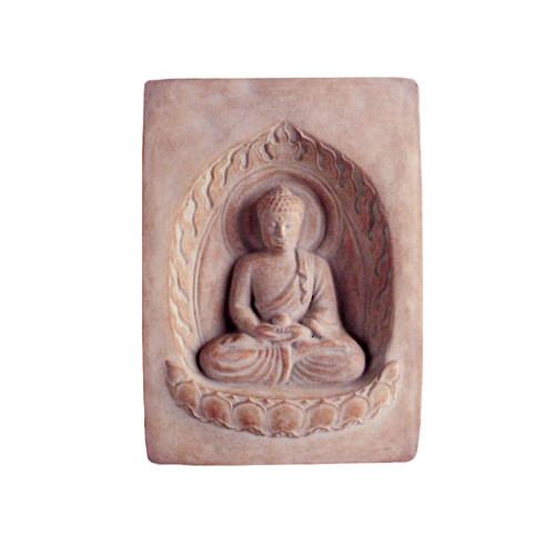 Buddha Cast Stone Garden Plaque