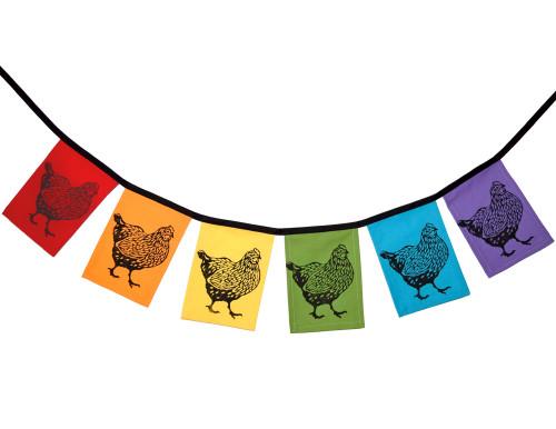 Cotton Garden Party/Chicken Coop Flag String