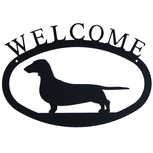 Iron Welcome Sign: Dachshund