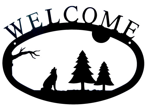 Iron Welcome Sign: Howling Wolf