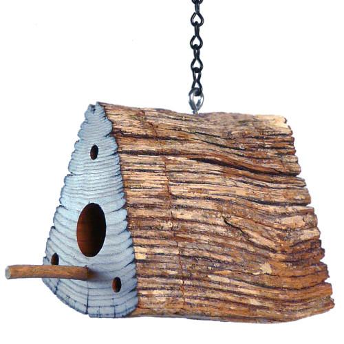 Chestnut Fence Rail Birdhouse