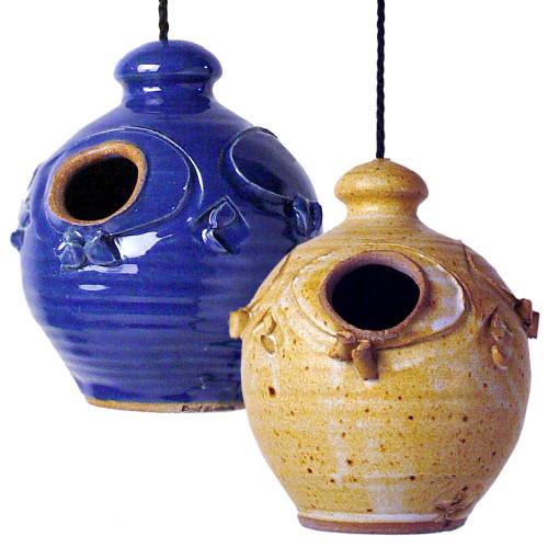 Stoneware Nesting Jar Birdhouse