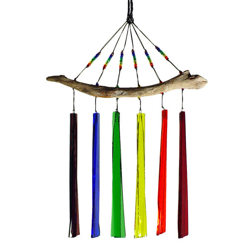 Fused Glass Windchime : Rainbow Colors