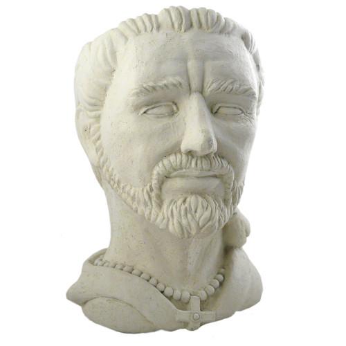 Saint Francis Cast Stone Head Planter