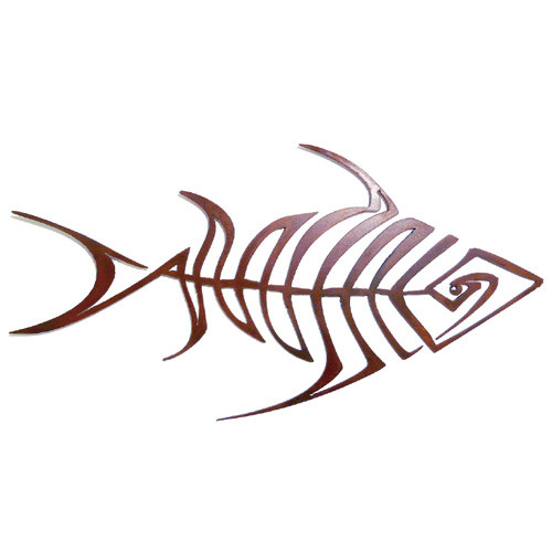 Bonefish Garden Wall Sculpture
