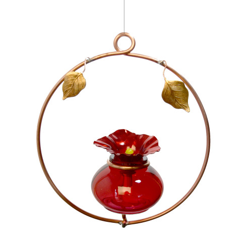 Copper Hoop Hummingbird Charmer