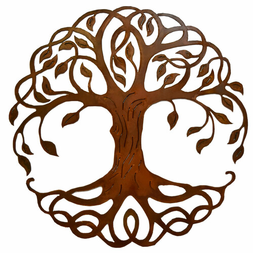 Rusty Celtic Tree of Life Outdoor Wall Art