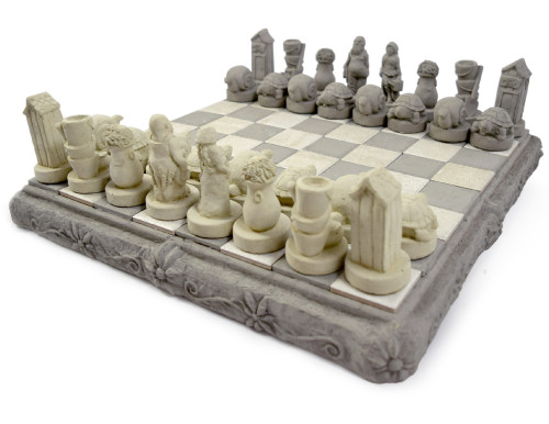 Cast Stone Garden Theme Outdoor Chess Set