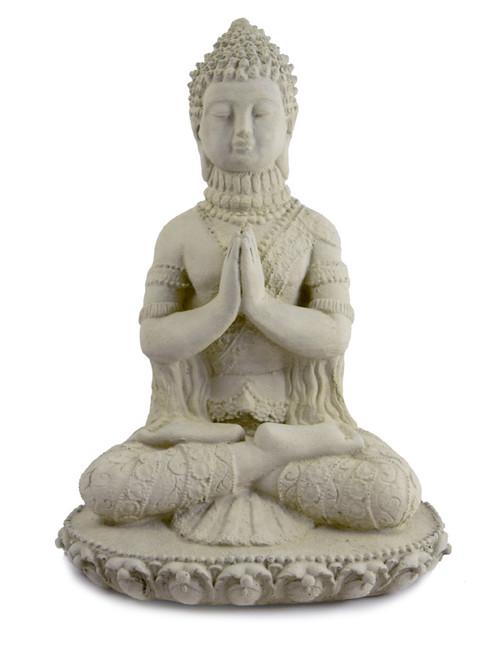 Ornamental Praying Buddha Concrete Garden Statue