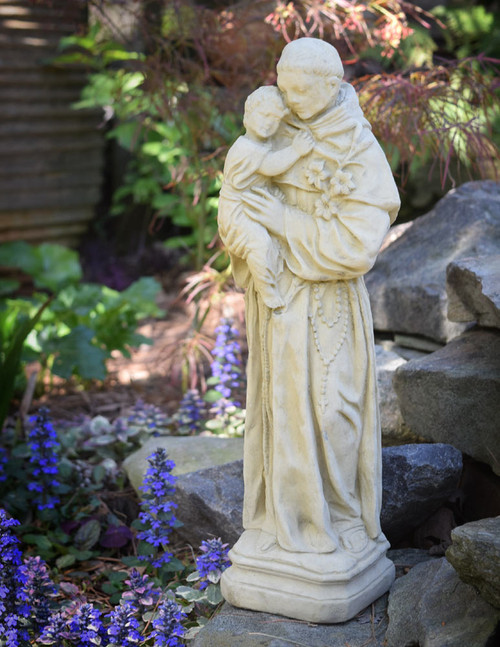 St Anthony Concrete Garden Statue