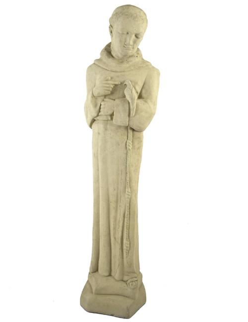 Vintage Mission-Style St Francis Concrete Garden Statue