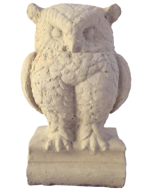 Small Wise Owl Concrete Garden Sculpture