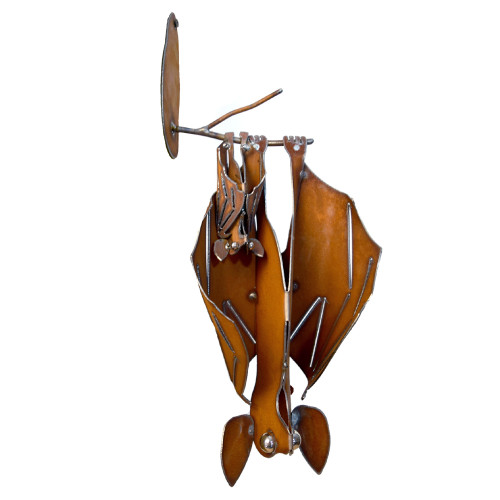 XL Mama and Baby Bat Hanging Sculpture