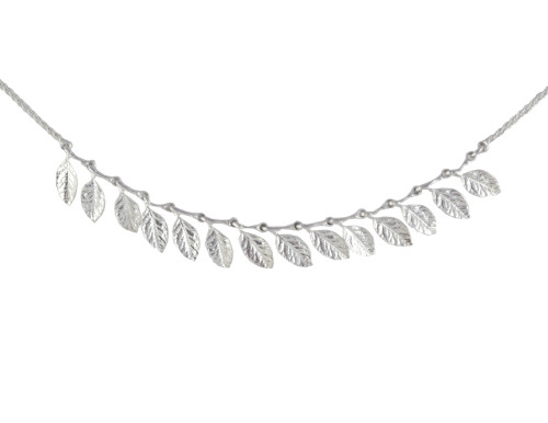 Sterling Silver Grecian Leaf Necklace