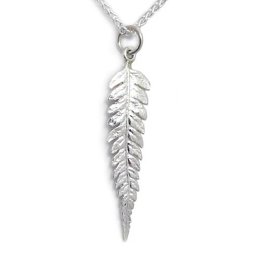 Sterling Silver Fern Leaf Necklace
