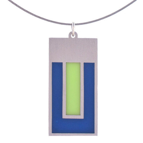 Modern Style Stainless Steel Color Field Pendant